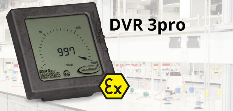 New vacuum gauge DVR 3pro from VACUUBRAND